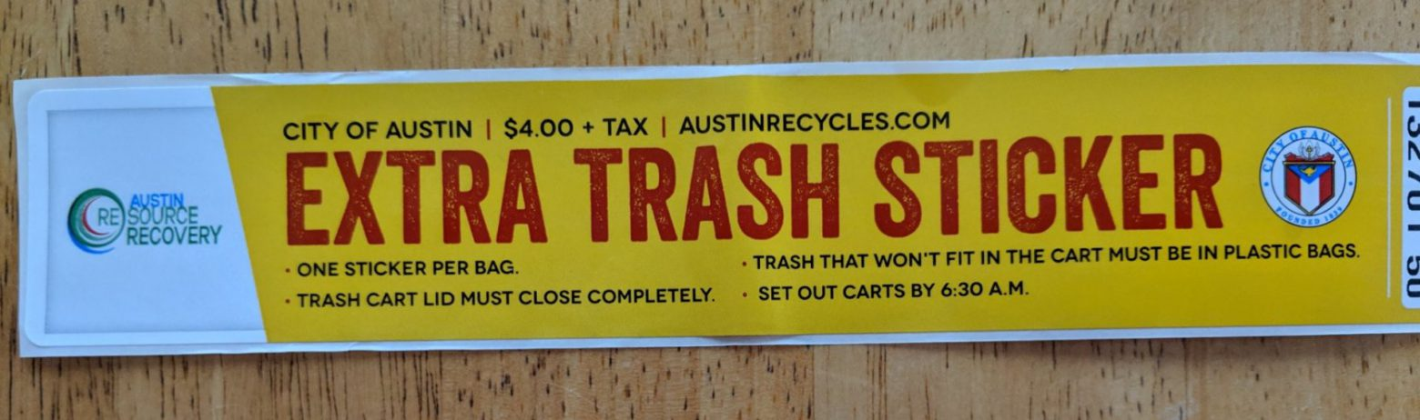 Extra Trash Sticker